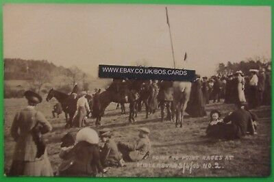 RP Postcard 3rd APRIL 1906 POINT TO POINT RACES AT MIDLEMBURN SCOTLAND