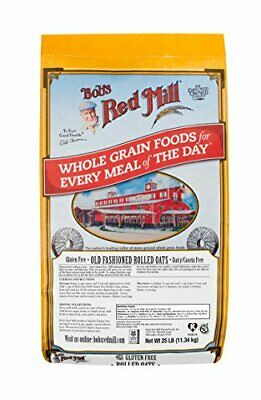 Bobs Red Mill Oats Gluten Free Old Fashion Rolled 25 lb pack of 1