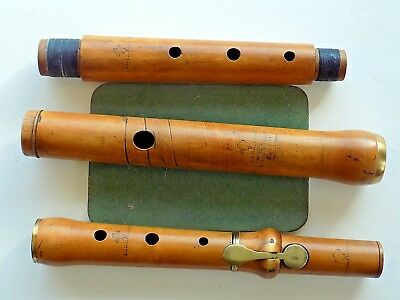 c1860 D'Almaine London 1-key Wooden Flute in F Genuine Antique A440
