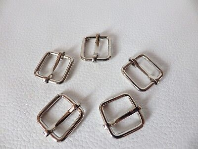 Metal Sliders / Rings Chrome finish buckles for webbing: Internal 16mm