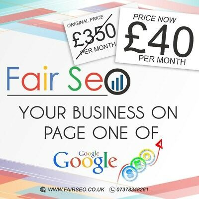 Local SEO Services, £40 a month, Specialising in GMB / Maps , Guaranteed Page 1
