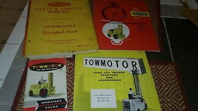 Vintage Towmotor forklift manual and misc