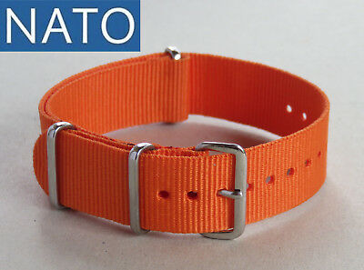 BRACELET MONTRE NATO 20mm (orange) watch strap orologio cinturino correa reloj