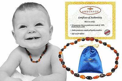 Baltic Amber Baby Teething Necklace Toddler Teether Children Jewelry Beads