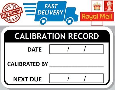 48 x Calibration Record Labels Calibration labels Calibration Stickers next due