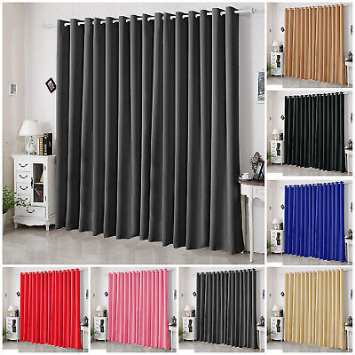 Thermal Blackout Pair Curtains Ready Made Eyelet Ring Top With 2 Free Tie Backs