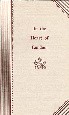 Kingsley Hotel Bloomsbury London Booklet pull out Map NOT A POSTCARD Ref F651