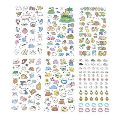 6 PCs/set Japanese-style Label Stickers Small Sea Lion Expression Animal