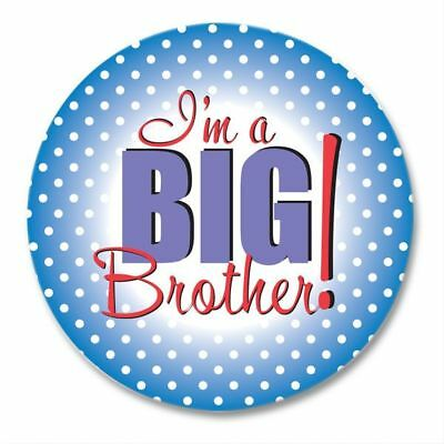 I'M A BIG BROTHER Button Pin ~ Big Brother Gift Birth Announcement Pins Keepsake