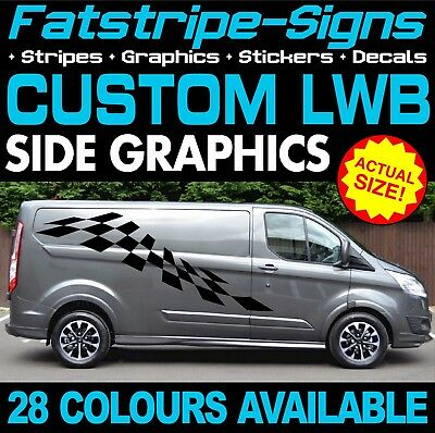 Ford transit custom lwb graphics stickers stripes decals st m sport 2 2 day van