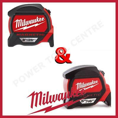 Milwaukee 4932459374 4932464178 Premium Magnetic Tape Measure 5m/16ft + 8m/26ft