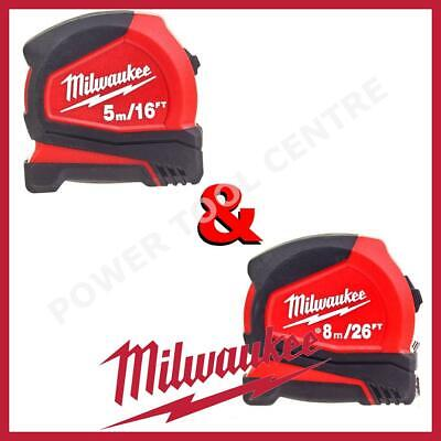 Milwaukee 4932459595 4932459596 Premium Magnetic Tape Measure 5m/16ft + 8m/26ft