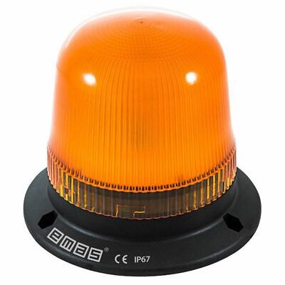 emas IT120Y024 120mm LED Flashing Beacon Orange 12-24V AC/DC