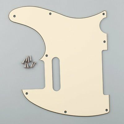 3Ply Guitar Tele Pickguard for Tele Style Guitar Replacement Cream Color