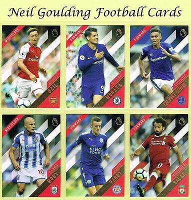 TOPPS PREMIER GOLD 2017-18 [2018] ☆☆☆ Premier League Football Cards #1 to #75