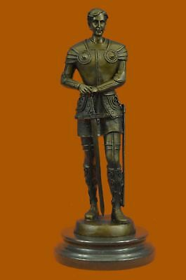 Medieval Knight Bronze Soldier Sculpture Statues Souvenirs Figurine Figure Deco