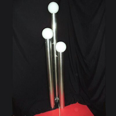 Vintage Mid Century Modern FLOOR LAMP 70s Atomic Tower Space Age 4.25 FT Chrome