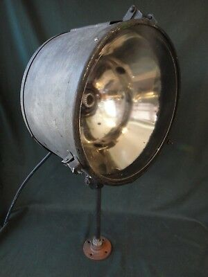 Large Antique Industrial Spot Light - Works - Curtis X-Ray No. 60 Projector Lamp