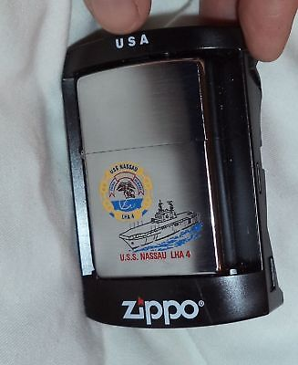 USS Nassau ZIPPO Lighter MINT/Box 2007 Navy Ship LHA 4