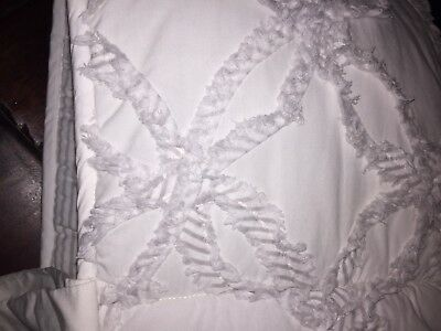RH Restoration Hardware Baby Double Ring Applique Crib Bumper And Skirt Gray