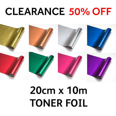 TONER FOIL for Laser Printer Laminator Minc Machine Heat Transfer 20cm width