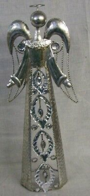 """NEW SILVER ANGEL WITH CLEAR GEMS 17"""" Tall x 7"""" Wide TII Collections"""