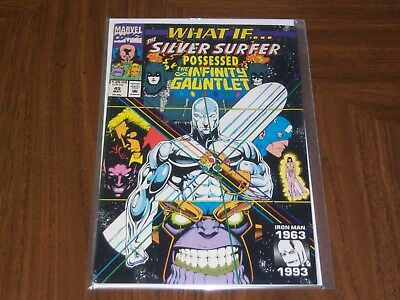 What If...? #49 Thanos Infinty May 1993, Marvel) water damage upper right corner