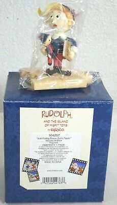 Enesco - Rudolph & The Island Of Misfit Toys 'hermey W/book' Mini Figure
