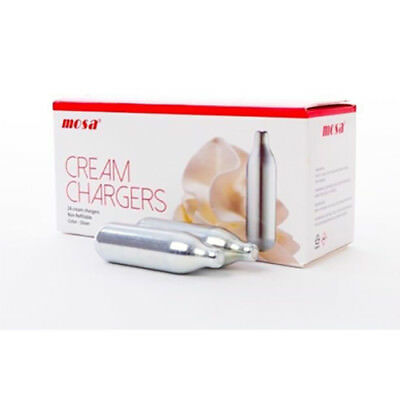 600 x MOSA CREAM CHARGER. Quality N2O. Silver Steel. Traditional. (24's)
