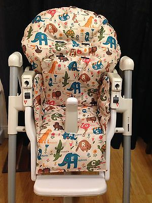 Hand Made Prima Pappa Highchair Cover- Animal Alphabet