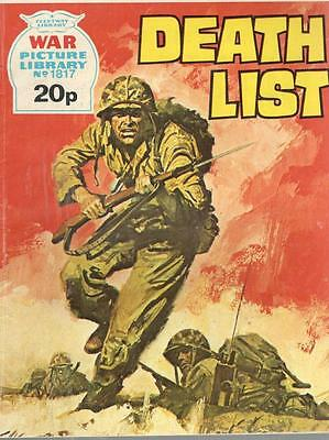 1980  No 1817 33082 War Picture Library  DEATH LIST