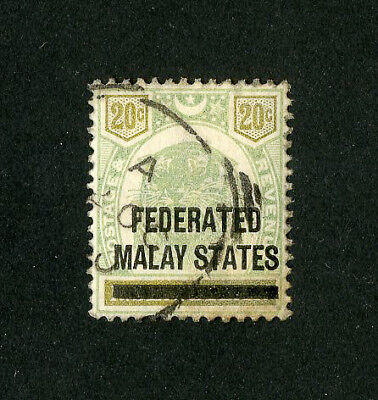 Malaya Stamps # 6 XF Used Scott Value $135.00