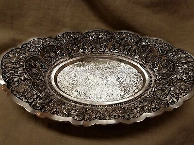 800 silver yogya dutch east indies 1930's bread tray