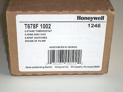 Honeywell T678F 1002 Two Stage Temperature Control Thermostat Two SPDT Switches