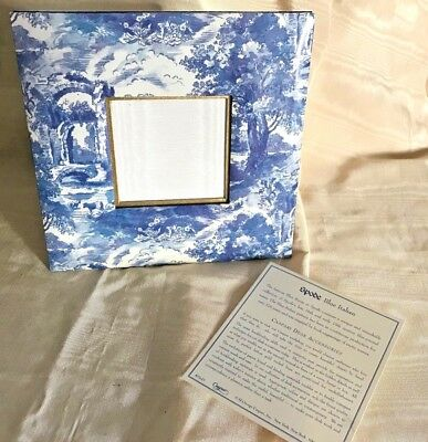 "Caspari Blue Spode Italian Table Top Photograph Frame  Holds 3"" Photo"