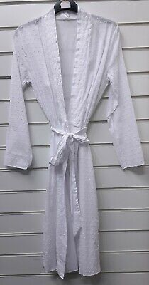 Ladies Ex Store 100% Cotton Dressing Gown Robe Uk Size 8/10