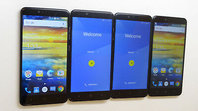 Lot of 4 ZTE ZMax Pro Z981 32GB T-Mobile Smartphones 1 GSM Unlocked AS-IS GSM !