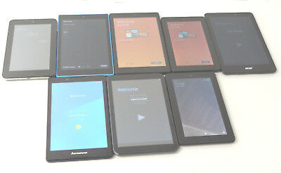 Lot of 8 Wi-Fi Only Tablets Mixed Brands 4 Amazon All Working