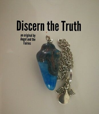 Code 218 Discern the Truth Crazy Lace Agate infused Pendulum Made for an Angel