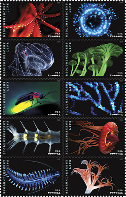 5263-5272 (5272a) Bioluminescent Life Block Of 10 Mint/nh Shipped After Feb,22