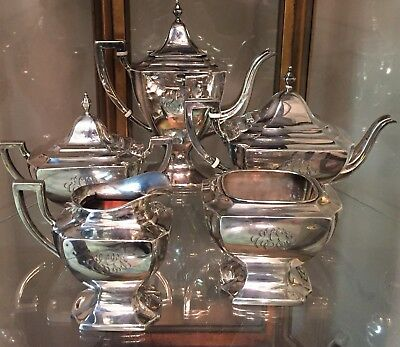 Sterling Silver Coffee and Tea Set