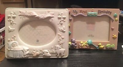 RUSS Baby Baptism BIrthday Baby GIrl Boy Birthday Unisex Picture Frame- New