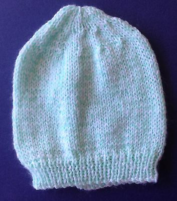 New hand knitted baby Beanie/ Hat. Mint Green. Save post on 2 items