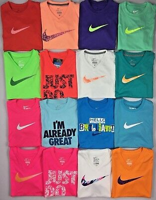 Girl's Youth Nike Dri-Fit Polyester Short Sleeve Shirt