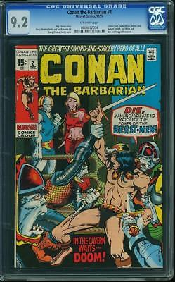 Conan the Barbarian #2 (Marvel, 1970) CGC NM- 9.2      CGC#0806072004