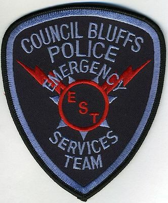 Council Bluffs Iowa Ia Police Dept Est Emer Service  Team Swat Sert Cpd  Bpd Pd