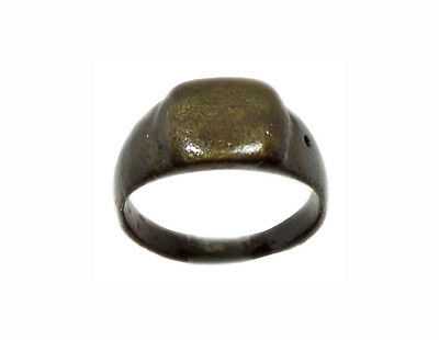 Roman Bronze Ring Pannonia Hungary AD200 Genuine Large Handsome Heavy Size 12