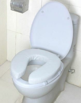 Cushion Toilet Seat Raiser 2″ Toilet Seat Cover , Padded