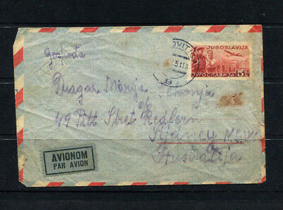 Yugoslavia Early Ppe Stamp Cover Air Mail To Australia 020