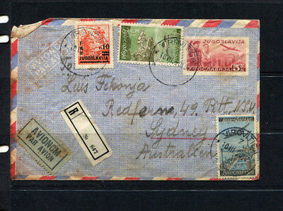Yugoslavia Early Ppe Stamp Cover Upgraded To Registered With Stamps To Australia
